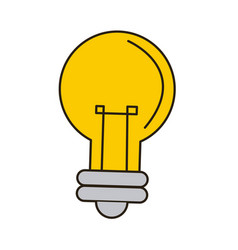 Cartoon bulb light creativity business icon vector