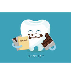 Chocolate tooth vector image