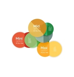 Circle business option diagrams vector image