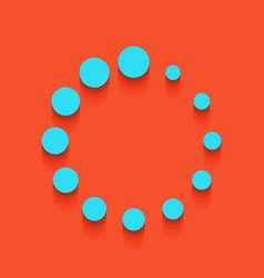 circular loading sign whitish icon on vector image