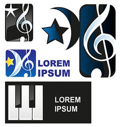 Classical music symbol vector image