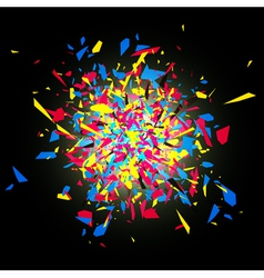 Cmyk abstract bright explosion vector