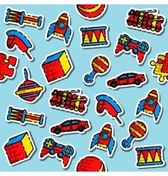 Colored toys pattern vector