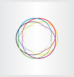 Connection circle logo colorful icon background vector