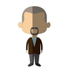 Cute man cartoon standing formal clothes character vector