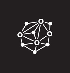 Distributed network icon vector