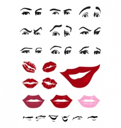 Eyes and lips vector