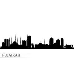 Fujairah city skyline silhouette background vector