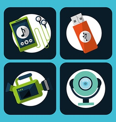 Gadgets icons vector