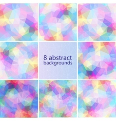 Geometric hipster retro background set vector