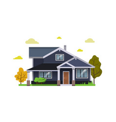 house flat design style vector image