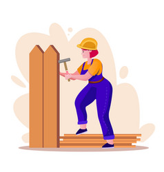 House repair and renovation flat vector