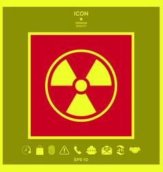 ionizing radiation icon vector image