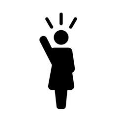 Leader icon - woman public speaking person symbol vector