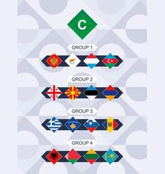 League c flags european football vector