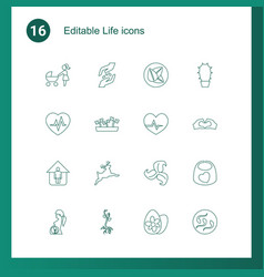 life icons vector image