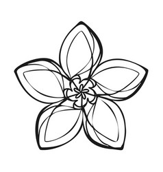 Lily exotic flower icon simple style vector