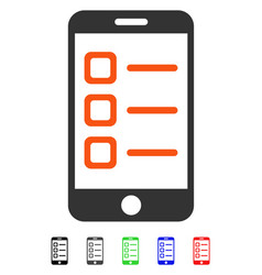 Mobile list flat icon vector