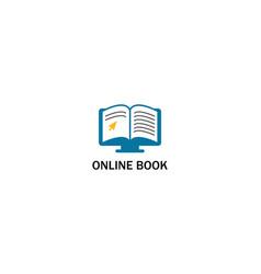 online book logo vector image