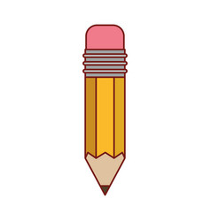 pencil design tool in colorful silhouette with vector image