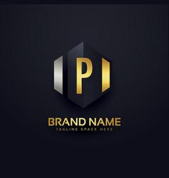 premium letter p logo design template vector image