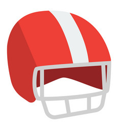 Red football helmet cartoon vector