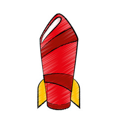 Rocket startup pop art vector
