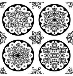 Scandinavian christmas folk pattern - snowf vector