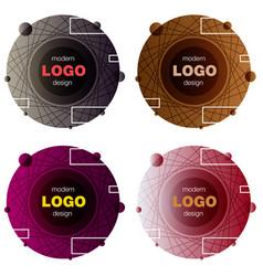 set minimalistic design creative concept modern vector image