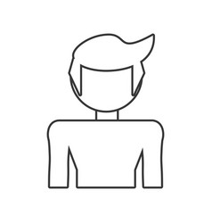 son boy male outline vector image
