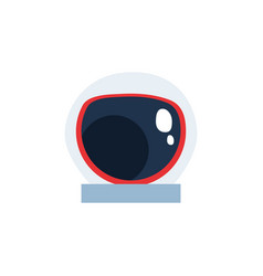 Space astronaut hat flat style icon vector