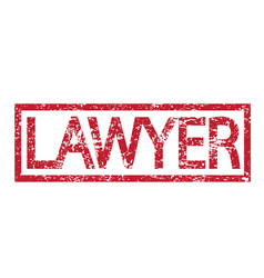 Stamp text lawyer vector