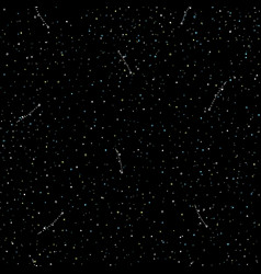 Starry sky hand draw seamless pattern doodle vector