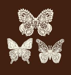 tattoo doodle Henna butterflies vector image
