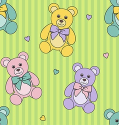 teddy bears pattern vector image