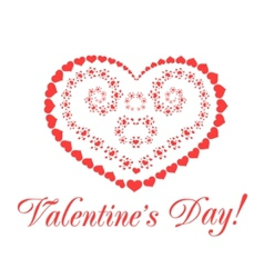 valentine form vector image