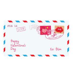 Valentine letter in envelope vector