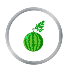 Watermelon icon cartoon Single plant icon from vector