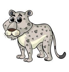 white tiger with cute face vector image