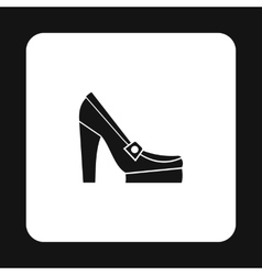 Womens shoes on platform icon simple style vector