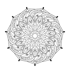 Zentangle stylized elegant round Indian Mandala vector image