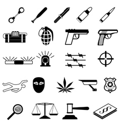 Crime Icons set vector image