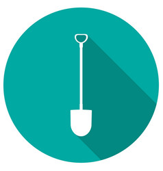 icon garden tools on long shadow vector image