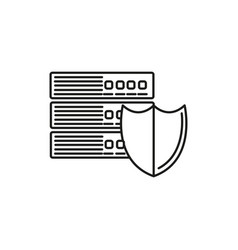 server security icon vector image