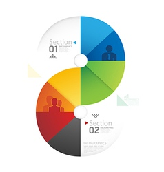 Abstract infographic Design Minimal circle shape vector image vector image