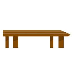 brown coffee table cartoon vector image vector image