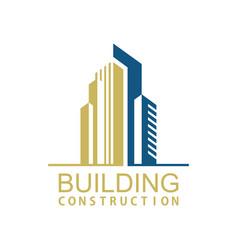 building town construction logo vector image