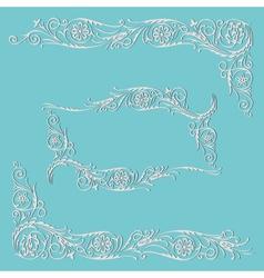 frame floral decorative pattern vector image vector image