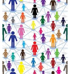 generation diagram people vector image vector image