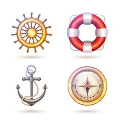 Marine Symbols Set vector image vector image